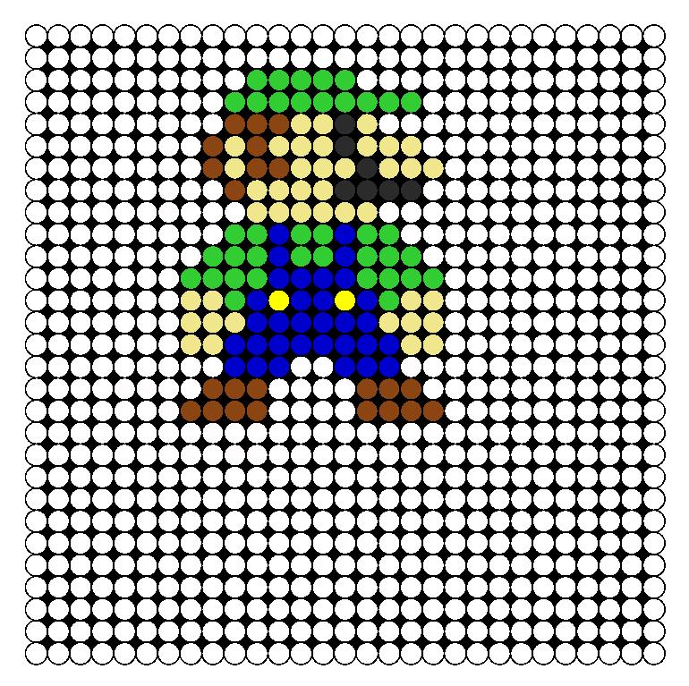 8 Bit Luigi Perler Bead Pattern / Bead Sprite