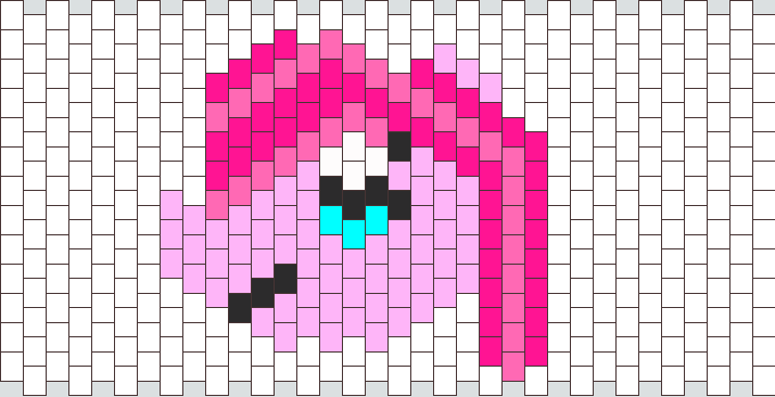 Pinkie Pie Peyote Stitch Head