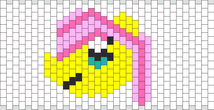 Fluttershy Peyote Stitch Head Bead Pattern