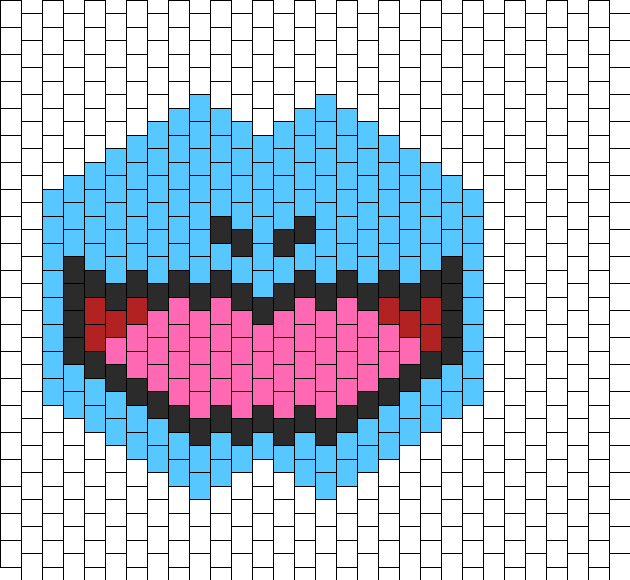 Squirtle Mask Bead Pattern