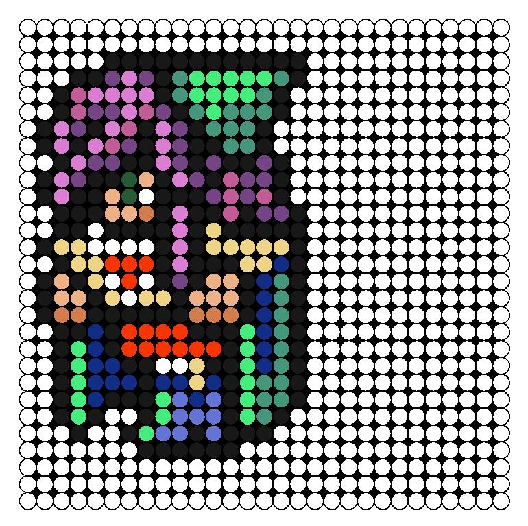 FFV Time Mage Perler Bead Pattern / Bead Sprite