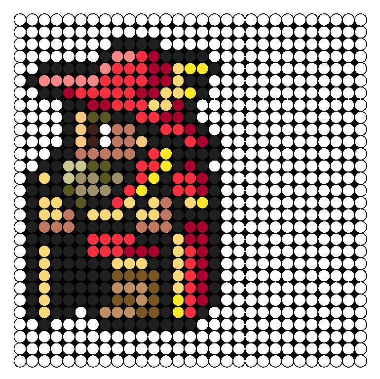 FFV Red Mage Perler Bead Pattern / Bead Sprite