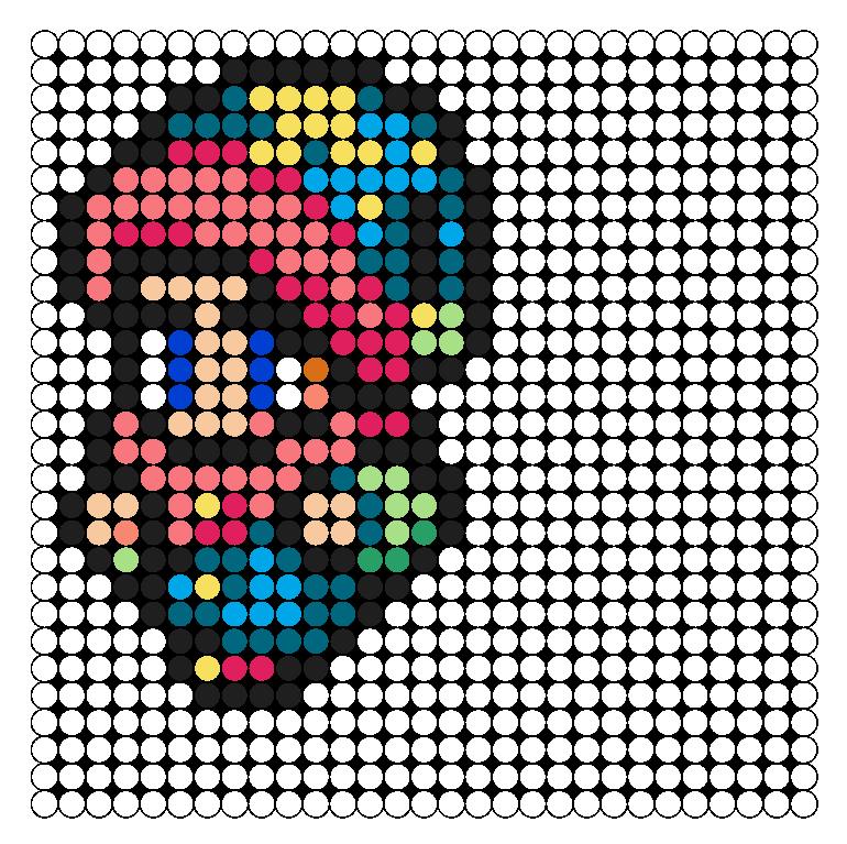 FFV Geomancer Perler Bead Pattern / Bead Sprite
