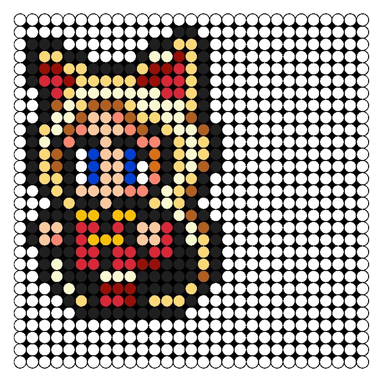FFV White Mage Perler Bead Pattern / Bead Sprite