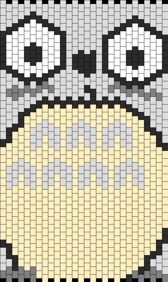 Totoro Front Panel Bead Pattern