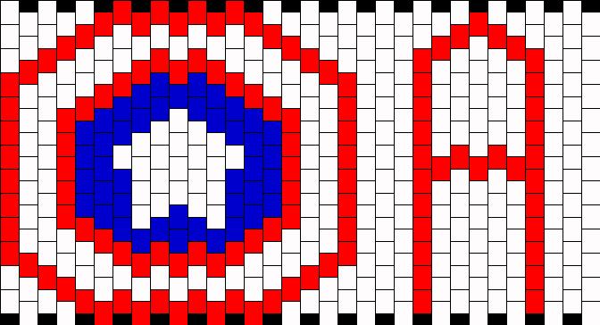 Captain America Cuff Kandi Pattern