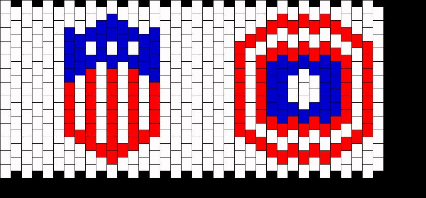 Capt America Cuff Kandi Pattern