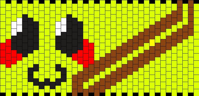 Pikachu Cuff Kandi Pattern