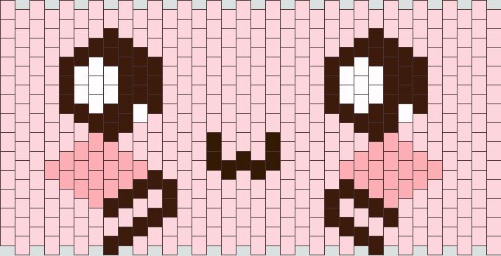Pink Kawaii Face Cuff