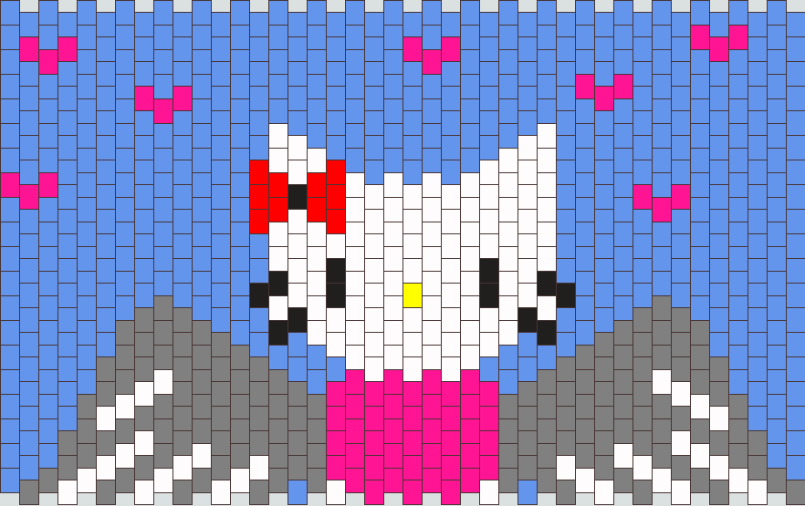 Hello Kitty Angel Cuff Kandi Pattern