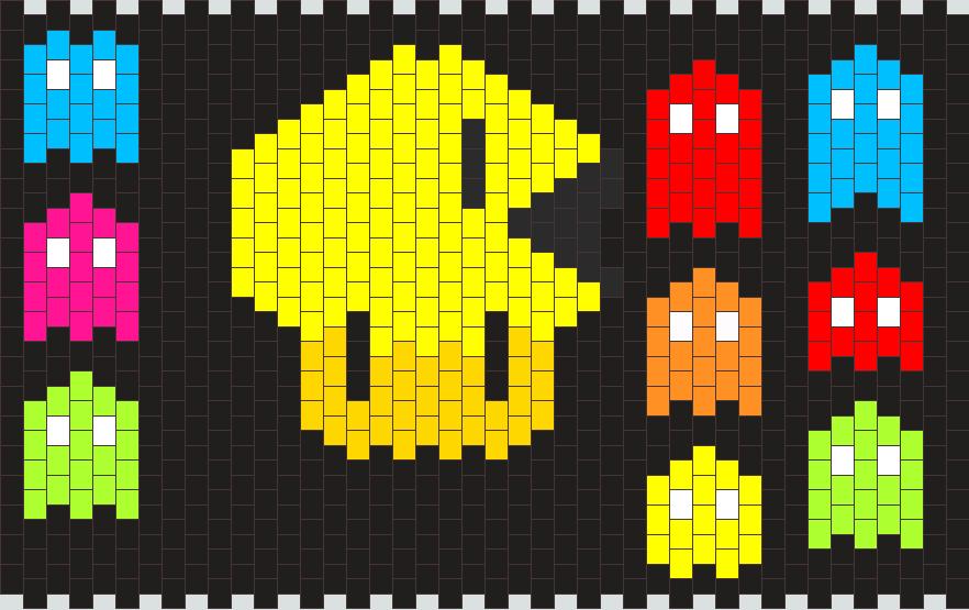 Mushroom Pac Man Kandi Pattern