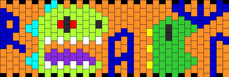 Rawr N Reptar Kandi Pattern