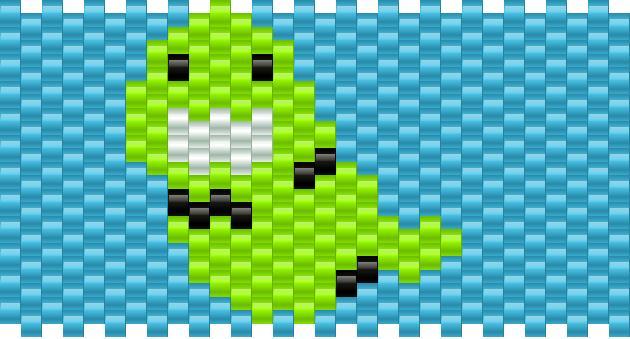 Homestuck - Johns Slime Ghost Kandi Pattern