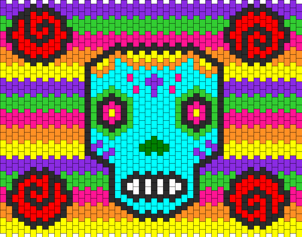 sugar skull pony bead patterns characters kandi patterns