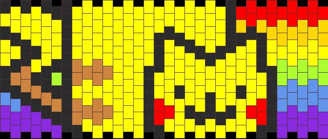 Nyan Pikachu Cuff Kandi Pattern
