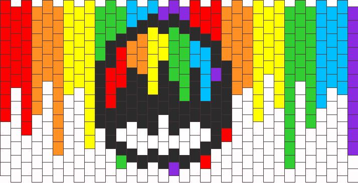Bleeding Rainbow Mushroom Kandi Pattern
