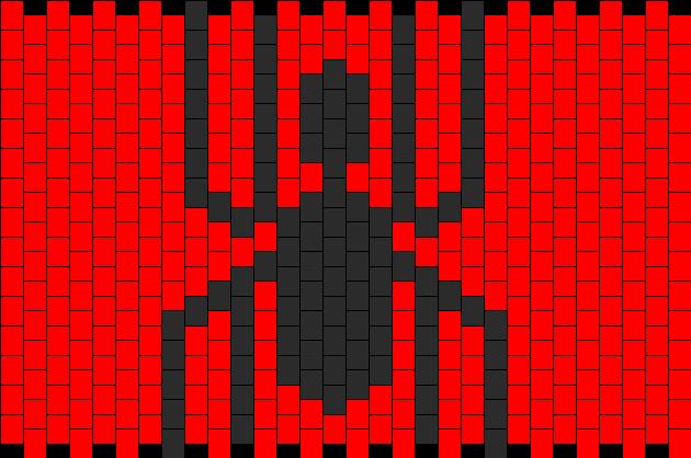 Spiderman Logo Kandi Pattern
