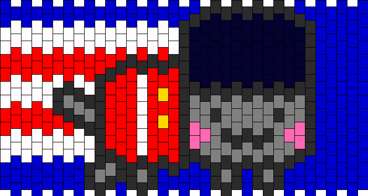 British Nyan Cat Kandi Pattern