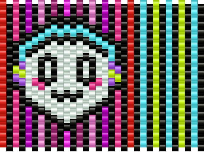 Music Ghost Kandi Pattern