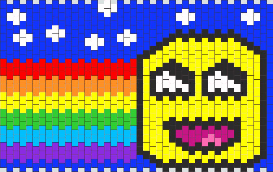 Nyan Awesome Face Kandi Pattern