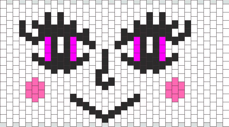 cute face w purple eyes