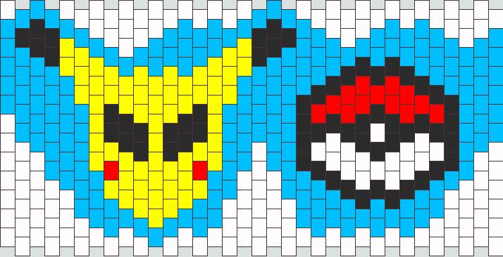 Pikachu Alien Attempt Kandi Pattern