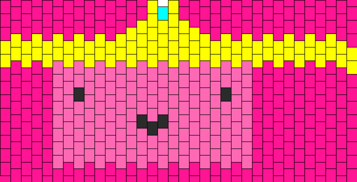 Princess Bubblegum Kandi Pattern