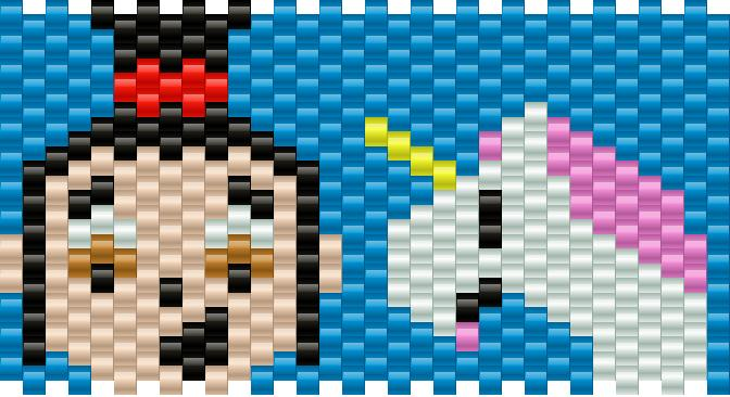 Agnes Despicable Me Kandi Pattern