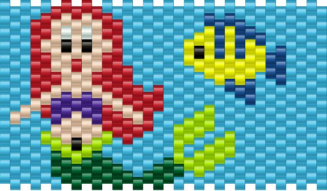 Ariel Little Mermaid Kandi Pattern