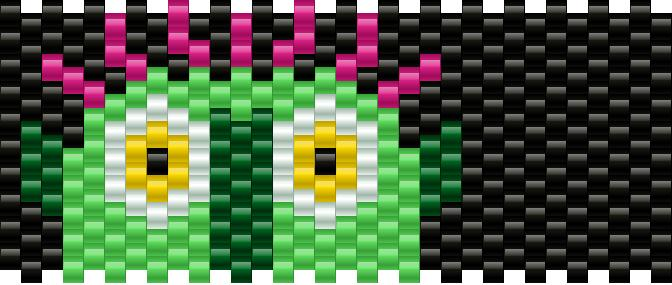 Big Green Monster Kandi Pattern