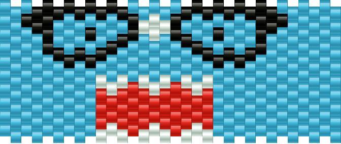 Blue Nerdy Domo Kandi Pattern