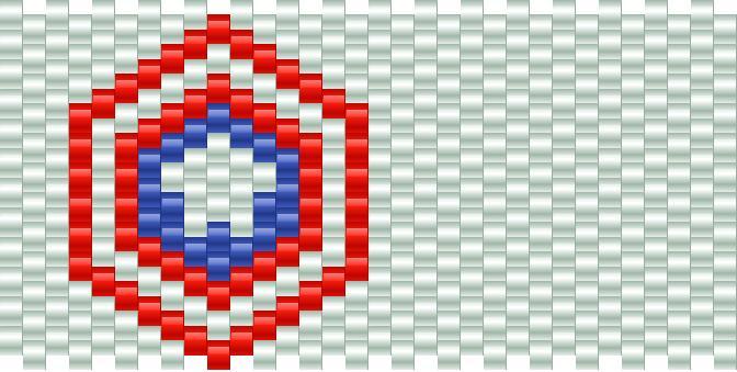 Captain America Shield Kandi Pattern