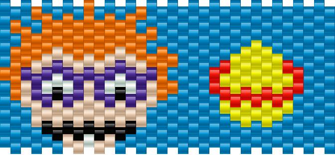 Chuckie Rugrats Kandi Pattern