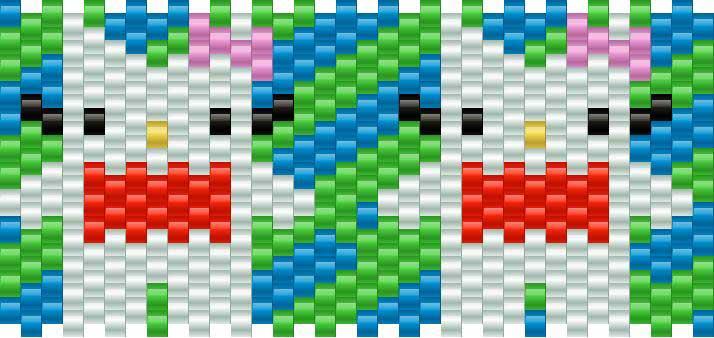 Domo Kitty Kandi Pattern