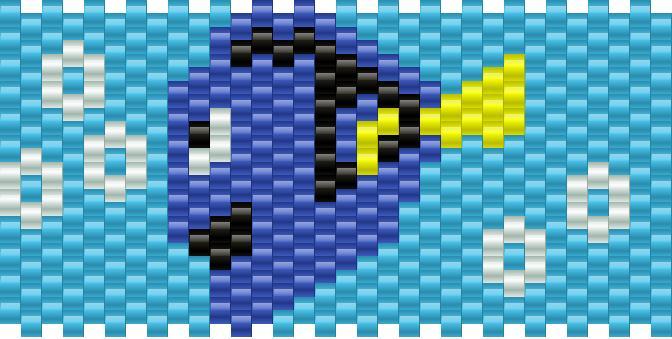Dory Finding Nemo Kandi Pattern