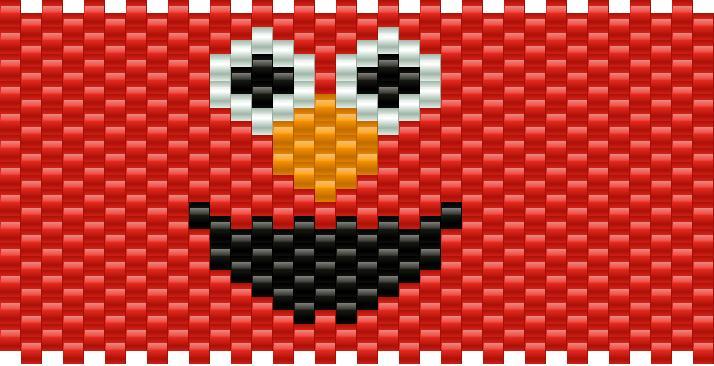 Elmo Full Kandi Pattern