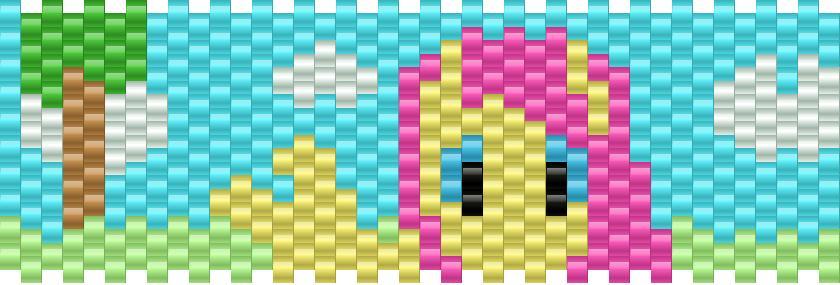Fluttershy My Little Pony Kandi Pattern