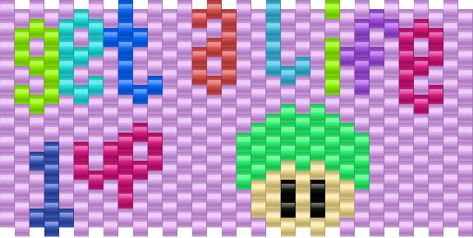 Get A Life 1up Kandi Pattern