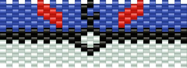 Great Ball Pokeball Kandi Pattern