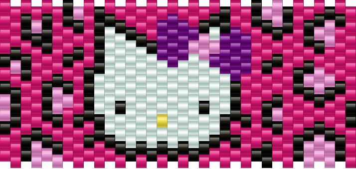 Hello Kitty Leopard Kandi Pattern