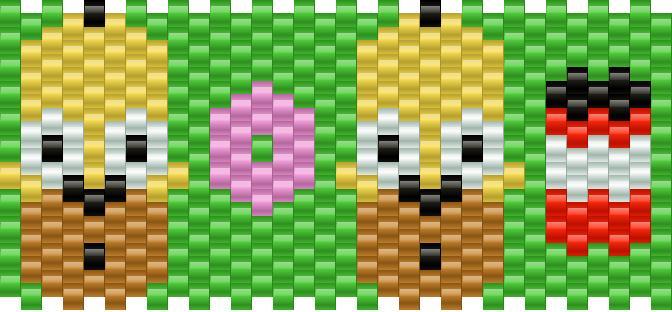 Homer Simpson Kandi Pattern