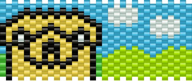 Jake Adventure Time Kandi Pattern