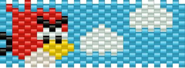 Mini Angry Bird Kandi Pattern