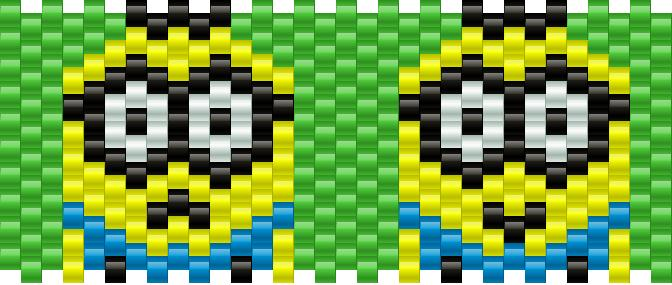 Despicable Me Minion Kandi Pattern