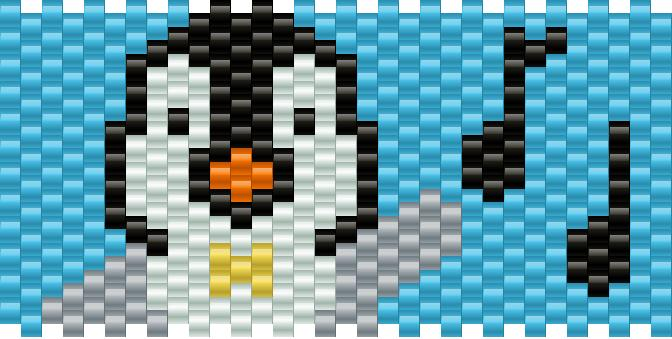 Mumble Penguin Kandi Pattern