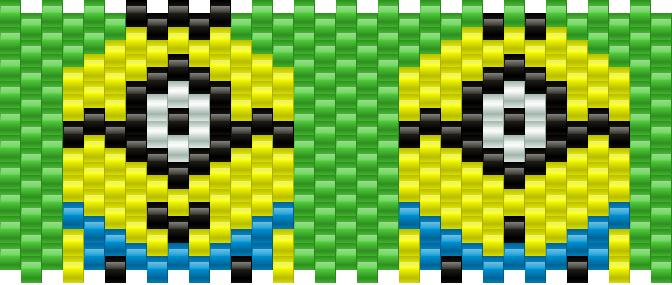 One Eyed Minion Kandi Pattern
