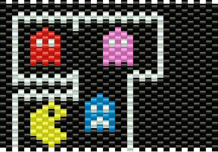 pacman and ghosts