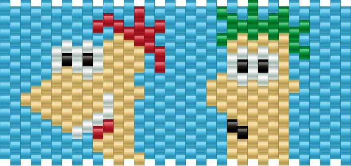Phineasandferb Kandi Pattern