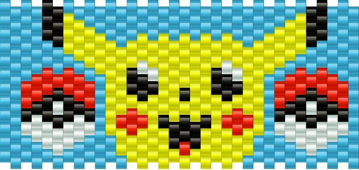 Pikachu2 Kandi Pattern