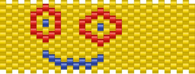 Plank Horizontal Kandi Pattern